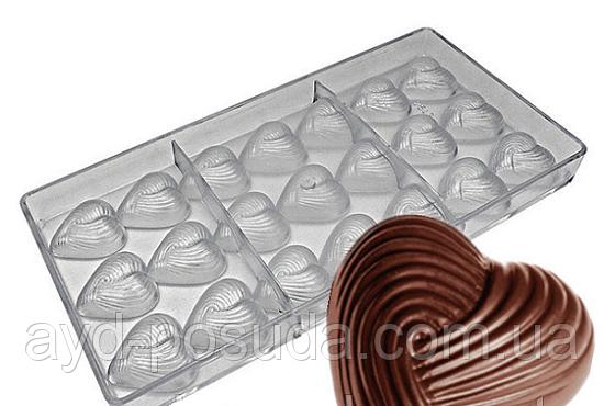 """Форма для конфет """"Сердечки"""" SD-2531 арт. 822-23-21"""
