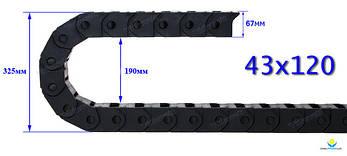 Гибкий кабель-канал (кабелеукладчик) с внутренним размером 43х120, фото 2