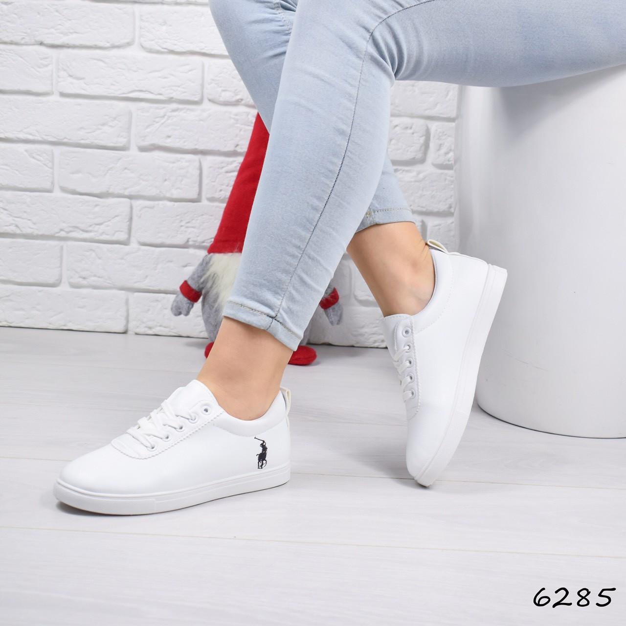 a06bfa3a Женские белые кроссовки кеды слипоны на шнуровке: продажа, цена в ...