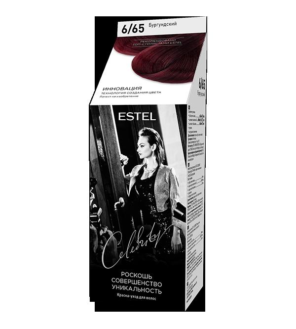 Краска уход для волос ESTEL Celebrity 6/65 Бургундский