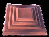 Крышки на кирпичные столбы забора «КАСКАД» 450х580, цвет красный, вес 36 кг., фото 2