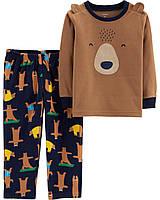 """Пижама флисовая для мальчика 2в1 Carter's """"Спячка"""" р.2Т,3Т,4Т,5Т"""