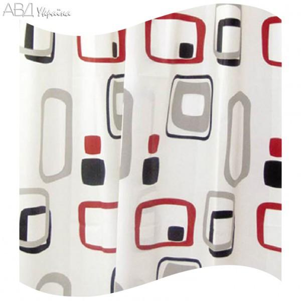 Шторка для ванной цветные прямоугольники AWD02101107