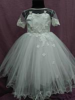 Платье детское нарядное белое на 3-5 лет, фото 1