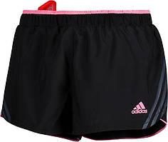 Шорты спортивные женские adidas Sn Sho W X18700 (черные, тренировочные, беговые, свободные, логотип адидас)