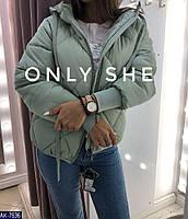 Женская зимняя куртка AK-7633-S Молоко