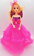 Кукла в стиле Барби в малиновом платье с крыльями