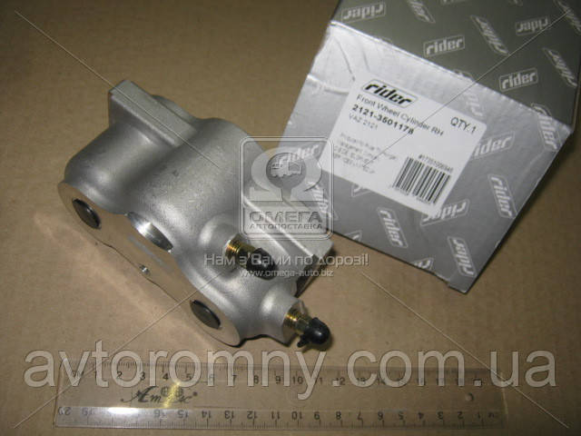 Цилиндр передний тормозной ВАЗ 2121 21213 Нива Тайга правый 2121-3501178 RIDER