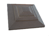 Крышка для кирпичного забора «КАРПАТИ» 310х310, цвет коричневый, вес 15 кг., фото 2