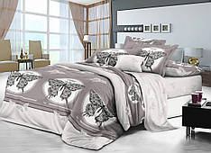 Полуторный комплект постельного белья 150 220 сатин (10888) TM КРИСПОЛ  Украина cdf3f76e5d03e