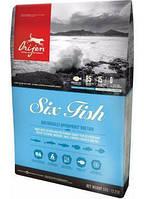 Сухой корм Orijen 6 Fish Dog 0.34 кг для собак всех пород и возрастов (сардина, макрель, хек, камбала, окунь, солея)