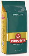 Кофе в зернах Covim Smeraldo 1кг Италия (Ковим espresso life), 100% Арабика. Италия