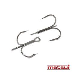 Тройные крючки metsui ROUND цвет bln, размер № 8, в уп. 50 шт.