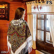 Белый павлопосадский шерстяной платок Восточная сказка, фото 2