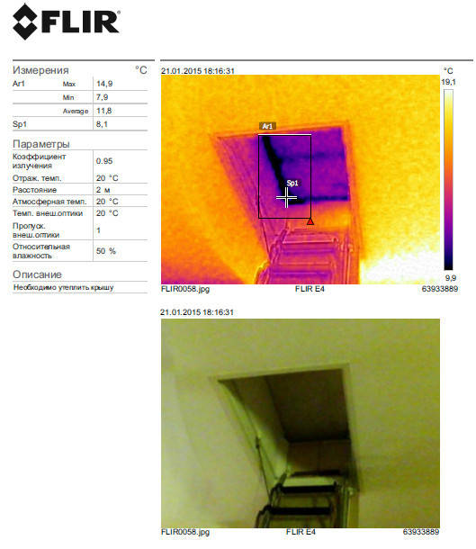 Крыша - перепад температур