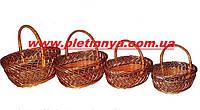 Набор пасхальных корзин из лозы 4 шт