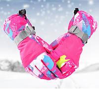 Перчатки лыжные с сенсором для смартфона.