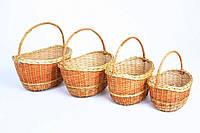 """Плетеный набор корзин из лозы""""Японка"""""""