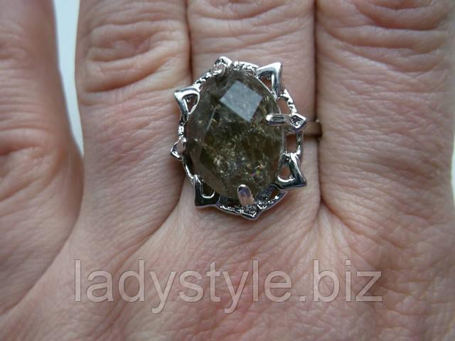 купить кольцо перстень с натуральным раухтопазом студия леди стиль