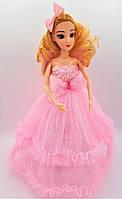 Кукла в стиле Барби в розовом платье с крыльями