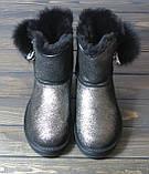 Зимние женские угги черные с серебристым Sopra, фото 2