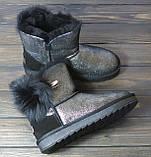 Зимние женские угги черные с серебристым Sopra, фото 3