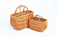 Набор сумок плетеных из лозы 2 шт