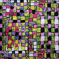 Коттон стрейчевый набивной (разноцветная клетка))