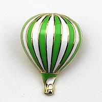 """""""Воздушный шар зелёный большой"""" значок (пин) металлический"""