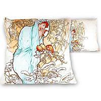Подушка декоративная A. Муха «Четыре времени года. Зима» (45х45 см) (021-1503)