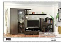 Нео 4 набор для гостиной (Мебель-Сервис)  венге  тёмный3150х588х1820мм