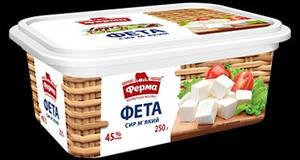 """Сыр Фета  Мягкий  ТМ  """"Ферма"""" 45% жирности 250 грамм"""