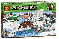 """Конструктор Minecraft """"Зимняя рыбалка"""" 215 деталей, Bela 10960"""