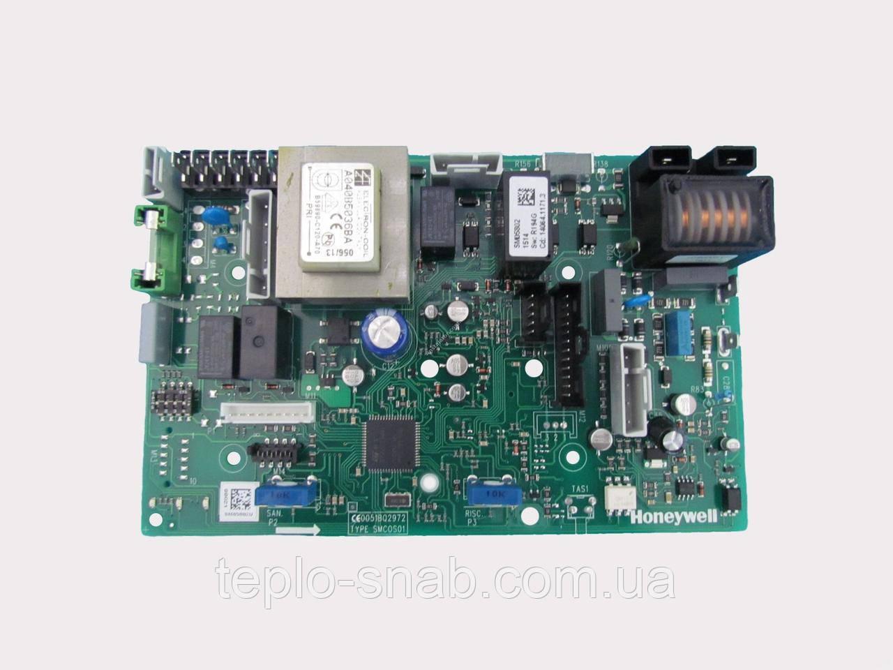 Плата управления газового котла Biasi Delta (2 ручки управления и 3 лампочки) BI1695100