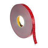 Двусторонняя клейкая лента 3M GPH 060 GF VHB (6 мм х 33 м х 0.6 мм.) Высокотемпературная. 060, фото 3