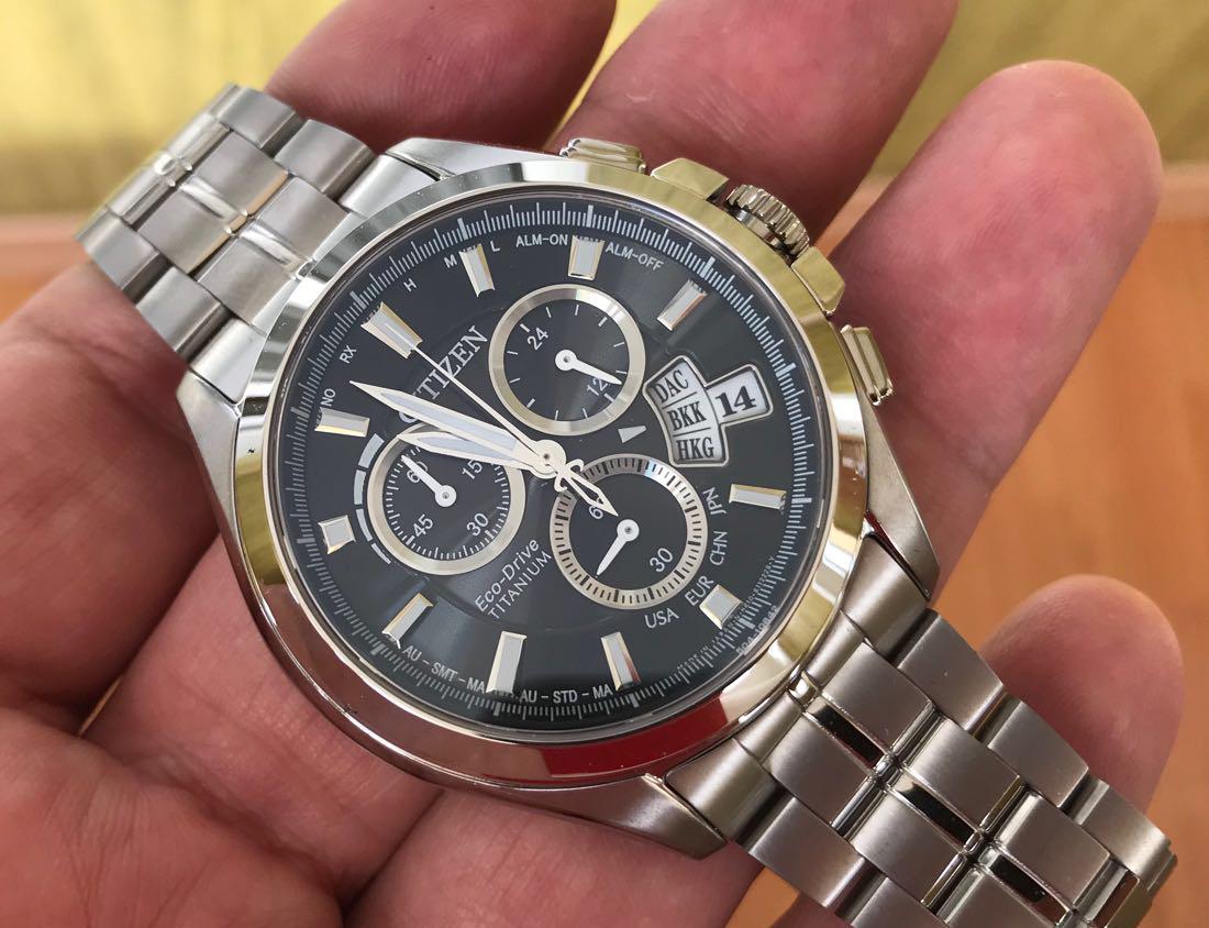 Часы Citizen Atomic Titanium Sapphire BY0051-55E Attesa