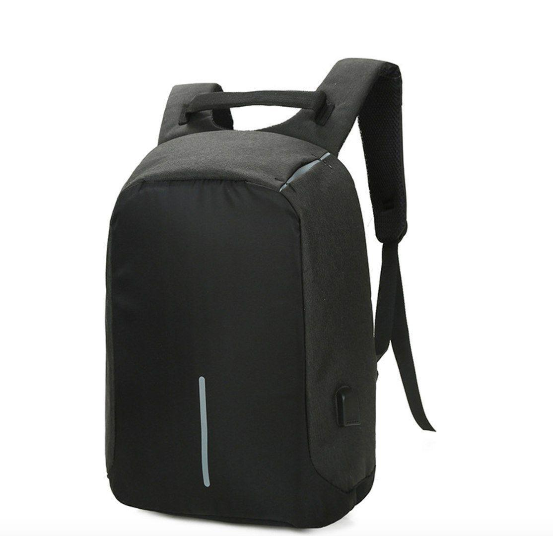 Антивор-рюкзак с USB зарядкой (черный)