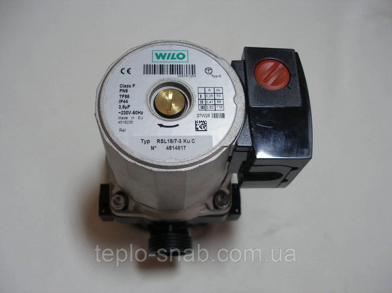 Циркуляционный насос WILO RSL 15/7 (в сборе) газового навесного котла Fondital NIAS - LIBRA Dual BTFS 24-28-32 kw. 6CIRCOLA10