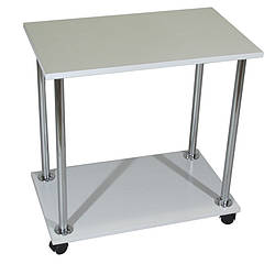 """Приліжковий журнальний столик """"Loco"""" білий для ноутбука або сніданку, на роликах (придиванный)"""