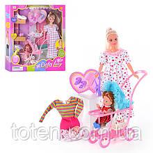 """Кукла 29 см """"Defa"""" беременная 8049 Игровой набор с детьми, коляска, одежда, аксессуары, 2 вида"""