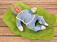"""Нарядный трикотажный набор для новорожденного мальчика из 3 предметов """"Малыш"""", фото 1"""
