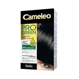Крем-фарба Delia для волосся Pro Green з маслом Марули 1.0 Черній