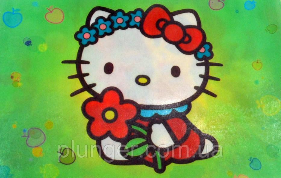 """Вафельна картинка для торта """"Кітті"""", (лист А4)"""