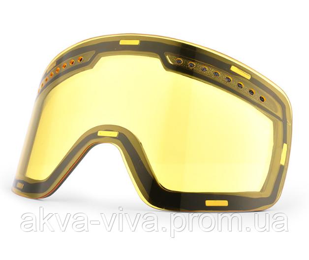 Линза желтая магнитная для горнолыжной маски МГ-1021