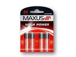 Батарейка Maxus Mega Power 1.5V LR6-AA-P4, щелочная 1шт. (блистер)