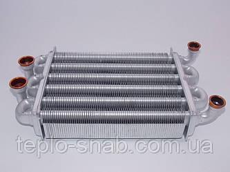 Теплообменник битермический Ariston Egis 24 kw( после 2008 г.), (короткий-220 мм). 65106300