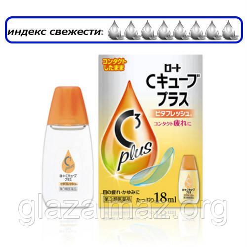 Rohto C3 Plus Vita - капли при ношении контактных линз c витамином B6!