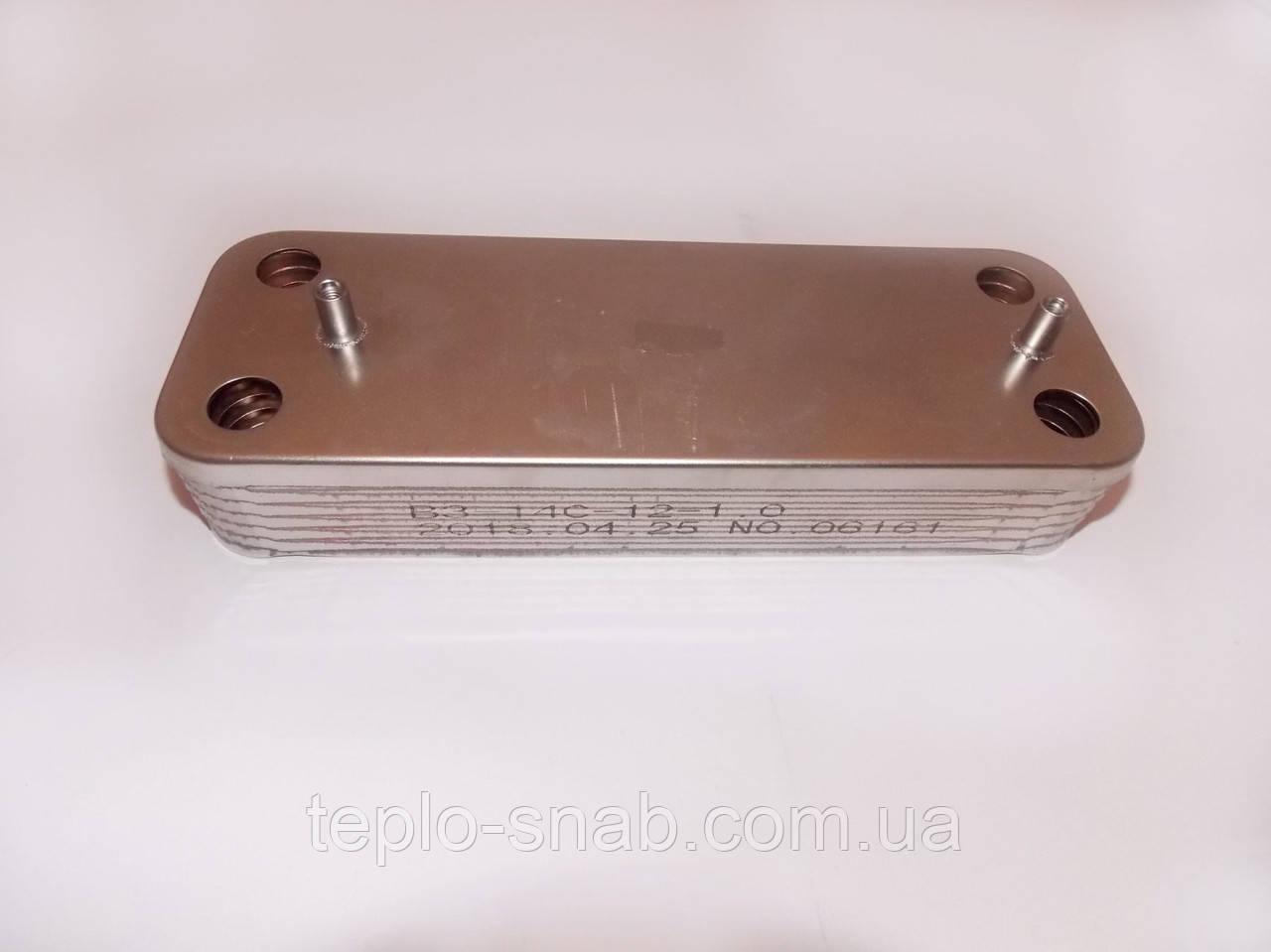Теплообменник вторичный Baxi/Westen. На все модели. 12 пл. 5686670
