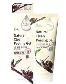 Мягкий пилинг-гель для лица с экстрактом черной иберийской улитки Ekel Black snail peeling gel 180 мл, фото 2