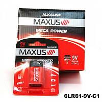 "Батарейка Maxus Mega Power 9V 6LR61-9V-C1, щелочная ""Крона"" (блистер)"